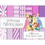 Kit Imprimible Princesas 64 Clipart - 14 Fondos.