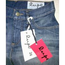 Lupe Pollera Jean Azul Tiro Alto T24 Nueva