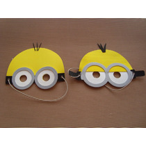 Mascaras De Minions En Goma Eva