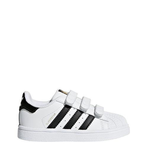 37f189a3ee90c Zapatillas adidas Superstar Con Abrojo Bebes niños- Origina