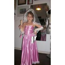 Disfraz De Princesa O Dama Antigua (talles 6/8)