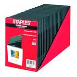 Caja Para Dvd Y Cd Slim Negra Plastica  X 25 Unidades
