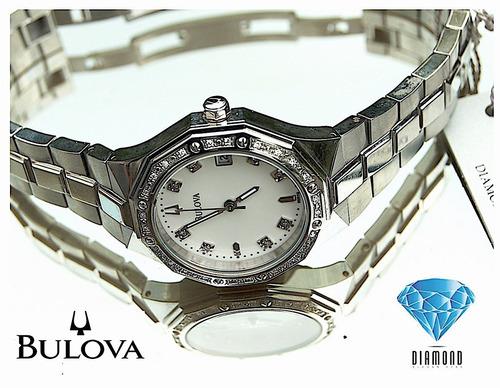 6bc47d91936b Reloj Bulova Diamond 96r118 Nuevo Legitimo Nuevo Sd