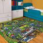 Carpeta Alfombra Calles Y Pista 140x200cm Infantil Fundasoul