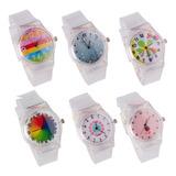 Relojes X Mayor Transparente  X 5 Unidades Super Oferta