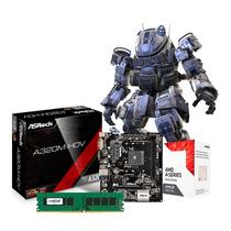 Combo Actualizacion Pc Amd A8 9600 4gb Mother Hdmi Pce