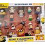 Caja Muñecos Minions Minion Villano Favorito X18 6 Cm Aprox