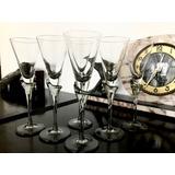 Copas Antiguas Champagne Diseño Italianas Cristal Soplado X6