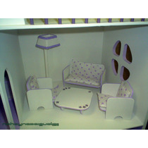 Muebles Barbies Living Sala Estar Lcd Lampara Sillones