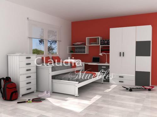 Cama nido laqueada blanca guatamb for Precio de cama de 1 plaza