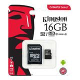 Memoria Micro Sd Hc 16 Gb Kingston Clase 10 Tienda