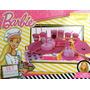 Set De Comiditas Barbie Cumpleaños Con Licencia Miniplay