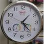 Reloj Pared Clasico Con Sensor Temperatura Y Humedad Grande