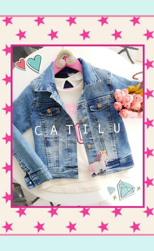 5bf935948 Campera Jeans Nena Lisa Nevada Talles 4 Al 14 Catilu en venta en ...