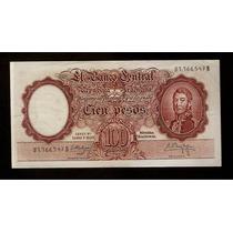Guardia Imp. Banco Central 100 Pesos 1961 Excelente ++