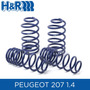 Espirales Progresivos H&r Sport Alemanes - Peugeot 207 1.4