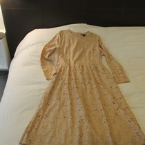 Vestido De Fiesta Largo Encaje Hermoso!!! Americano