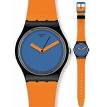 Reloj Swatch Gb268 Orange´n Petrol Naranja Y Azul