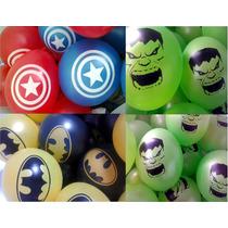Globos Avengers Capitan America Hulk Batman Deco Cumpleaños