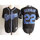 Camiseta Baseball Mlb Los Angeles Dodgers Negra Y Azul