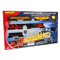 Mehano Wrecker Crane Train Set Ho