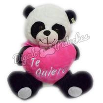 Oso Panda De Peluche Con Corazon Te Amo Y Bombones