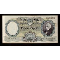 Guardia Imp. Banco Central 500 Pesos M/n 1964