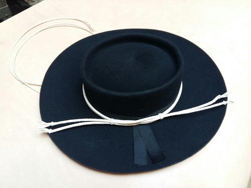 Sombrero Paño Gaucho Con Toquilla Y Barbijo 9d4e26f8352