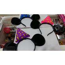 Vinchita Con Orejas Y Bonete De Mickey Tipo Disney