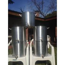 Olla Cerveza Artesanal Con Válvula Aluminio Reforzado 30 Lts