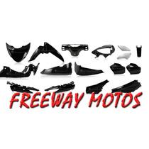 Kit Plasticos Negro Gilera Futura Completo En Freeway Motos