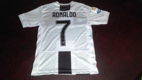 Camiseta Juventus Titular Cristiano Ronaldo Cr7 Niño 2018 93b8077094264
