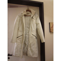 Piloto / Impermeable Entallado Color Blanco Talle S