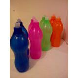 Botella Deportiva Plastica Ideal Souvenir Colores Variados