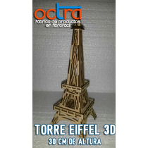 Centro De Mesa Torre Eiffel 30 Cm X 20 Unidades