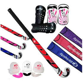 Set De Hockey Full!! Palo + Bucal + Funda + Canilleras 10%of