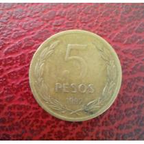 Moneda De Cinco Pesos Chilenos 1992