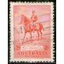 Australia Sello Usado Rey George V Y Su Caballo Anzac 1935