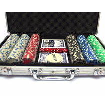 Maletín Fichero Poker 300u + Fichas + Llave + Naipes + Dados