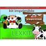 Kit Imprimible Candy Bar Vaquitas Vacas Granja