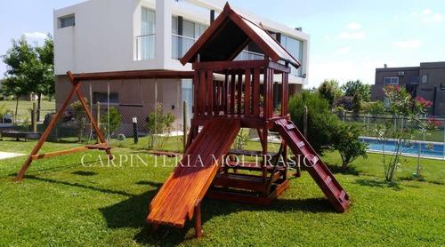 Juego En Madera Para Niños - Ideal Para Exterior Y Jardines ...