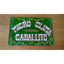 Cartel Ferrocarril Oeste - Microclima Caballito - Fileteado