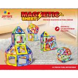 Magnetic Sheet De Jyftoys El Original Por 46pcs