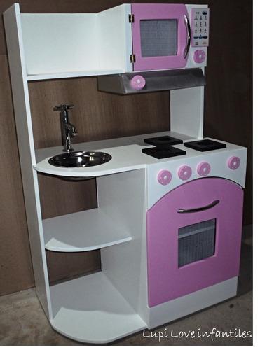 Juguete Muebles Cocina Casita Infantil Rincon Juegos Madera - $ 3900 ...