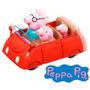 Peppa Pig Auto Rojo Familiar Con Mecanismo Presiona Y Anda