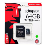Memoria Kingston 64gb Micro Sd Clase 10 Xc 80mbs Original !!