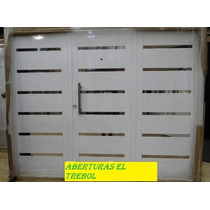 Porton Garage Pavir Blanco Apliques 240x200 Pintura E-poxy
