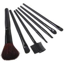 Set De 7 Pinceles De Maquillaje - Practico Estuche
