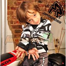 Conjunto Pantalon Y Jersey Rpm Niños Negro Motocros Atv Quad