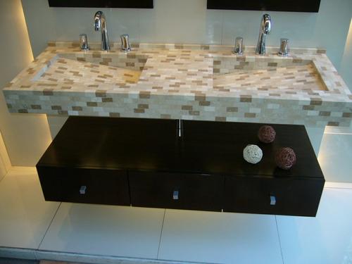 Muebles De Baño Flotantes:Mesada Bacha Doble Con Cajonera Flotante (Muebles de Baño) a ARS 4500